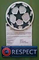 patch toppa champions league pallone bianco 2021 + scritta respect 2020 2019