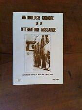 Anthologie sonore de la littérature nissarde. Auteurs et textes du moyen-age...