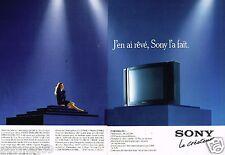 Publicité advertising 1989 (2 pages) Le Téléviseur Sony Black Trinitron