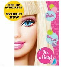 Barbie Girls Birthday Party Invitations Invites Envelopes Stickers Supplies X 8