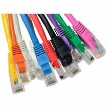 6m Blue Long RJ45 Cat5e Network Ethernet Cable Patch Lead LAN PREMIUM 24AWG
