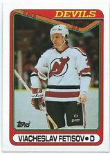 1990-91 Topps #27 Viacheslav Fetisov Rookie Hockey Card Mint