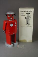 "Vintage Giant Atomic Robot Tin Toy w box 11 3/4"" tall by Schylling Toys"