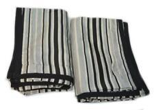2 RALPH LAUREN Wiltshire Black Ivory Khaki Stripe STANDARD SHAMS NEW