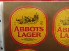 VINTAGE AUSTRALIAN BEER LABEL. CARLTON & UNITED - ABBOTS LAGER 750ML 55D