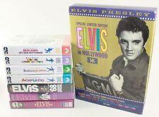 KONVOLUT ELVIS VHS-CASSETTEN - 7x VHS + 1 BOX MIT 1 VHS / 1 CD / 4 BILDER