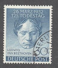 GERMANY, BERLIN STAMP #9N80 — BEETHOVEN -- 1952 -- USED
