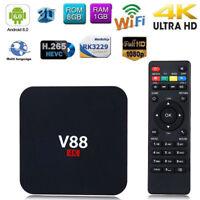 V88 4K Android 6.0 Smart TV BOX Latest RK3229 Quad Core 8GB 1080P WIFI Media...