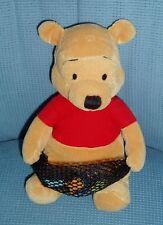Disney Store Winnie the Pooh Fisherman Fish Net Bean Bag Plush 8 Inch Clean EUC!
