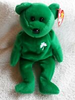 *RARE* 1997 TY ERIN Beanie Baby With Tag Errors Mint Condition *RETIRED*
