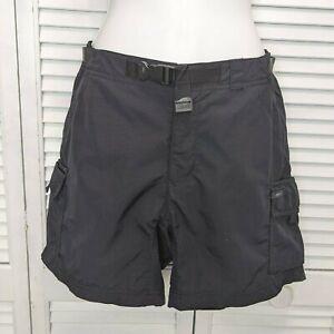 Womens REI Black Hiking Travel Cargo Shorts Size 6 / 6 Pockets UPF 50 Nylon