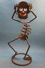"Partylite Mr. Bones Halloween Lighted Skeleton Character 15"" Ec"