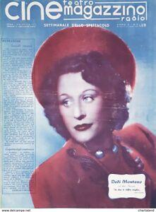 Cine Teatro Magazzino Radio - Settimanale Spettacolo N. 11 - 1943 Dedi Montano