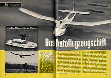 Bauplan funktionsfähiges Auto Amphibienflug Schiff Fahrzeug-Modell Original 1962
