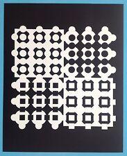 Victor VASARELY VIII Offset Originale de 1973 Op Art Optique Cinétique 44ans