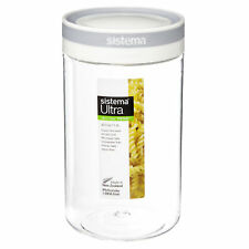 Sistema Tritan Storage Tub Canister Round Ultra Clear Stack Stacking 1.2L