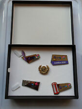 BT LONDON 2012 OLYMPIC + PARALYMPIC GAMES PIN BADGE SET LIMITED EDITION AND CASE