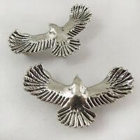 20pcs Antique Style Silver Tone Alloy Fly Bird Pendant Jewelry Decor Hot 37559