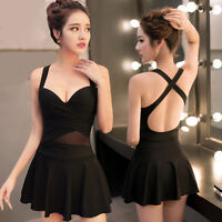Womens Skirts Swimwear One-Piece Swimsuit Backless Camisole Dresses Fashion