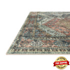 Skye Apricot/Mist 5 Ft. X 7 Ft. 6 In. Traditional Polyester Pile Area Rug