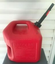 Midwest Can Company 5610 5 Gallon Gas Can Fuel Container Jug With Quick Flow Spout
