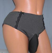 Polka Dot  Bikini SISSY POUCH PANTIES Crossdress for Men Sz 30-44 2X