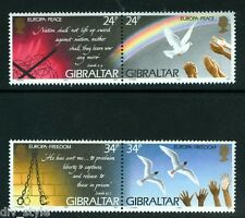 Peace and Freedom Europa Issue two se-tenant pairs mnh 1995 Gibraltar