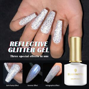 BORN PRETTY Reflective GEL UV LED Colour Glitter HOLO Base Top Coat Soak Off