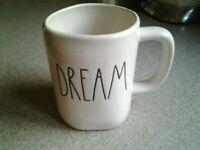 "RAE DUNN ""DREAM"" Mug Artisan Collection By Magenta 4 1/2""  NEW"