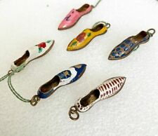 Italian Enamel Shoe Charms Pendants  All Different Colors    Old Vintage