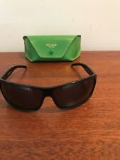 KATE SPADE 110 JANEY/S BLACK SUNGLASSES WITH GREEN LEATHER CASE