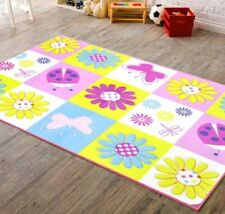 "New 30"" X 40"" Kids Room Daisy Garden Flowers Floral Rug Non-Skid Bedding Decor"