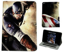 For Apple iPad 2 3 4 Avengers Captain America Marvel DC Smart Stand Case Cover