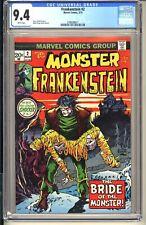 Monster of Frankenstein #2 CGC 9.4 WP NM Marvel Comics 1973 (vol 1) Horror Ploog