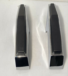 Pair Chrome Front Bumper Guards For 1981-1987 Chevy & GMC Pickup Truck Show New