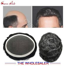French Lace Mens Toupee Skin Hairpieces Black Brown Blonde Gray Hair Replacement