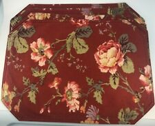 New listing Set Of Four Red FloralCotton Placemats In Ralph Lauren Style Of Pattern Nice!