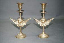 Set von 2 Super Messing  Leuchter Kerzenständer 20 cm  Engel Kandelaber