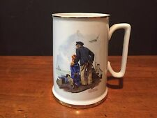"Vintage Norman Rockwell ""Looking out to Sea"" Seafarers Tankard Collection c. 198"