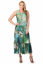 Noni B Liz Jordan Vanessa green teal printed DRESS retail $149.95 XLarge 18 NEW