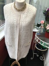 Evans Size 18/20 Ivory Sleeveless Wrap Cardigan Worn Twice Very Good Condition