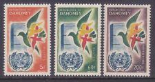 Dahomey 150-51 & C16 Mnh Dahomey's Admission to the Un 1st Anniversary
