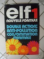 AFFICHE ORIGINALE ELF1 - DOUBLE ACTION -SYNERGIE PUBLICITE et HAVAS CONSEIL