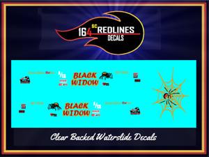 1/64 '55 Chevy Black Widow Gasser' CUSTOM Decal SCR-0008