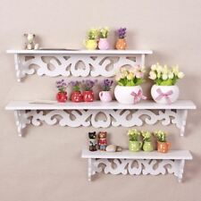 3 x Floating Wall Shelves Storage White Shop/Kids Room Display Storage Shelf