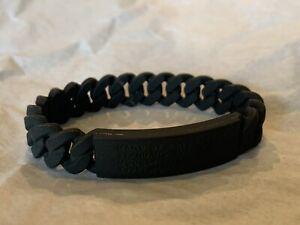 Marc by Marc Jacobs Black Rubber Bracelet Unisex