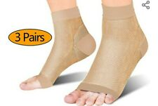 3 PAIRS COMPRESSION SOCKS - NATURAL- LARGE SIZE - BRAND NEW