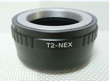 T2 T Mount to Sony NEX E Lens Mount Adapter Alpha A7 R A6000 Nex7 T2-NEX