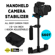S60T Carbon Fiber Handheld Steady Stabilizer 360° For DSLR Canon Camera