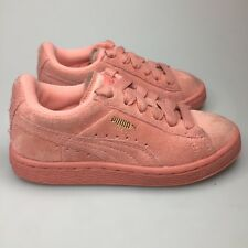 Puma Suede Sneakers Shoes PS Girls Size 11c Athletic Fashion Pink Rihanna  EUC 512b46ce3